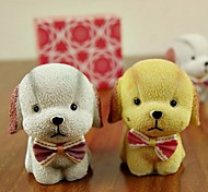 ENKAY 2 Pack Couple of Dog Pattern Resin for Decoration or Gift