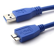 3FT / 1M USB 3.0 A Male to Micro B Male Cable Blue Free Shipping