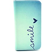 Smile Butterfly Pattern PU Leather Full Body Case with Stand for iPhone 4/4S