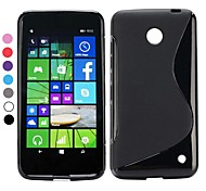 S forma semplice TPU cassa molle del gel di disegno per il Nokia Lumia 630 (colori assortiti)