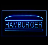 Hamburger Beef Bread Advertising LED Light Sign