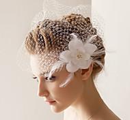 Veli da sposa 1 strato Veletta 10-20cm Tulle Bianco Adatto a tutti gli stili