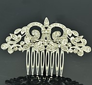 7cm Alloy and Rhinestone Women's Royal Style Small Hair Comb