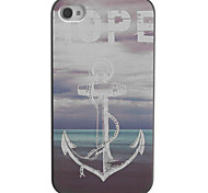 Hope To Anchor Design PC Hard Case with Black Frame for iPhone 4/4S
