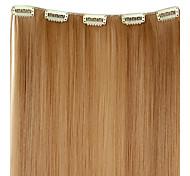 20-дюймовый 50g Длинные Синтетические прямой Клип В Наращивание волос с 5 зажимами - 12 Цвета