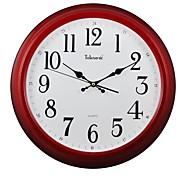 "Telesonic™ 18""H Circular Shape Imitation Wood Grain Coating Super Mute Wall Clock"