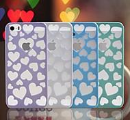 venda quente escavar amar estojo rígido padrão de coração projeto pc para 5/5s iphone (cores sortidas)