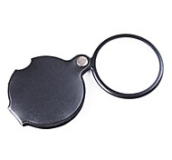 ZW-85034 Pocket 6X Coating Optical Lens Magnifier with Rotatable PU Leather Cover