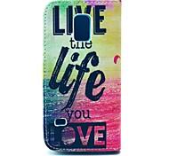 leben und das Leben der Meeres Muster Ganzkörper-Fall-Abdeckung mit Kartenhalter für Samsung Galaxy mini s5