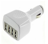 Fore-port USB Car Charger for Samsung Mobile Phone and Tablet  (White and Black)