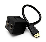 HDMI Male To 2x HDMI V1.3 Female Y Splitter Adapter Cable Free Shipping