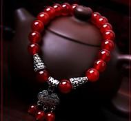 Retro (Ruyi) Red Agate Bracelet (Red) (1 PC)