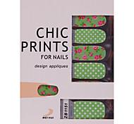 YeManNvYou®14PCS Pink Rose Nail Art Ultrathin Stickers Decals Environmental Pregnant