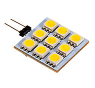 G4 2.5 W 9 SMD 5050 90-100 LM Warm wit/Koel wit 2-pins lampen DC 12 V