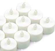 12pcs Flickering LED Battery Operated Tea Lights for Wedding Party