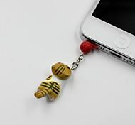 Gato amarillo Catch The Bombilla en forma de 3,5 mm para auriculares Jack Plug Anti-polvo