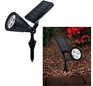 4-LED Outdoor Solar Power Novidades Paisagem Spot Light Garden Lawn Flood Lamp