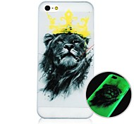 Para Funda iPhone 5 Fosforescente Funda Cubierta Trasera Funda Animal Dura Policarbonato iPhone SE/5s/5