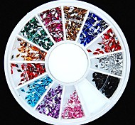 600pcs 12colours Rautenform Acryl Strass Rad Nagelkunstdekoration
