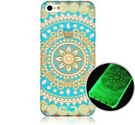 For iPhone 5 Case Glow in the Dark / Pattern Case Back Cover Case Mandala Hard PC iPhone SE/5s/5