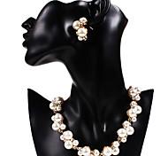 Pearl Fashion For lega dorata sposa collane orecchini monili d'epoca