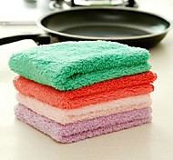 Square Shape Fiber Washing Dishes Clothes(Assorted Color)