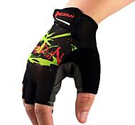 Glove Cycling / Bike Women's / Men's / All Fingerless Gloves Anti-skidding Summer Green / Black S - BOODUN