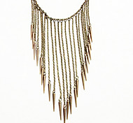 Alloy Tassel Statement Necklace