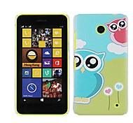 Loving Hearts & Owls Hard Back Case for Nokia Lumia 630