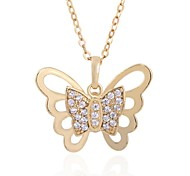 novo ouro 18k chegada das mulheres banhado elegante venda quente borboleta zircão projeto colar d0651