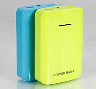 Universal 9000mAh Dual Interface External Battery Assorted Colors for Mobile Devices