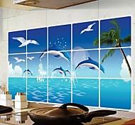 Doudouwo ® Животные Дельфин Анти-Нефть стены стикеры