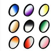 52mm gafas de lente de filtro de gradiente para la cámara
