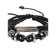 Men's Hematite Beaded Bracelet