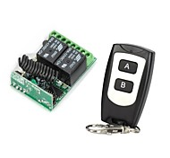 12V 2-Channel Wireless Remote  Control Relay Module with Remote Controller (DC14V - AC125V)