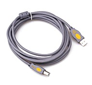 Gray USB2.0 Printer Cable 3M 10FT