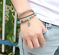 Unisex's Hollow  Sleeves Leather Braided Bracelets