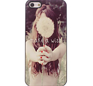 Make a Wish Letter Design Aluminium Hard Case for iPhone 4/4S