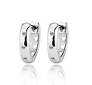Genuine 925 Sterling Silver Jewelry Elegant Accessories Women Fashion Lady Stud Earrings