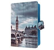 """Groot-Brittannië Style Bridge PU lederen beschermhoes & Stand Cover Universal voor Samsung en andere merken 7 """"Tablets"""