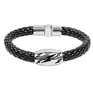 Men's Personality Jewelry Snakeskin Braid Leather Bangle
