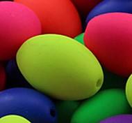 z&x® perles bricolage matériaux de forme ovale perles fluorescentes de couleur 13mmx9mm 50 pcs (couleur aléatoire, motif)