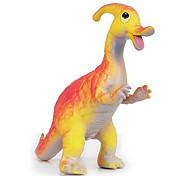 Ação Rubber Parasaurolophus Dinosaur Modelo Toy Figuras (laranja)