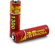 HAOMBA  1.2V 1300mAh Rechargeable AA NiMH Battery 2PCS