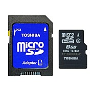 Toshiba 8GB Class 4 MicroSD/MicroSDHC/MicroSDXC/TF / SD/SDHC/SDXC / Adapters & CasesMax Read Speed4 (MB/S)Max Write Speed4 (MB/S)
