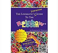 interativa livro instruções guia da loomatic ao estilo tear do arco-íris