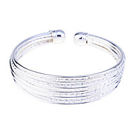 Fashion Silver Plated Carve Wire Cuff Bracelet