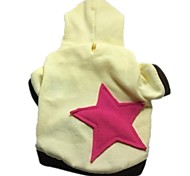 Pentagram Hooded Cotton Applique T-shirt (Yellow)