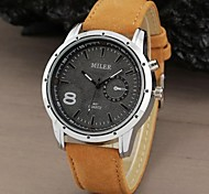 Men's Watch Military Water Resistant Leather Band Wrist Watch Cool Watch Unique Watch