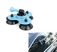 Big Size Removable Gopro Suction Cup Mount with Screw (Blue)